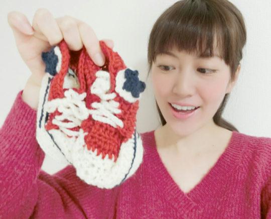 手編みのベビーグッズ