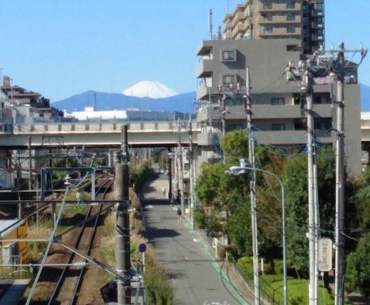 富士と晴天
