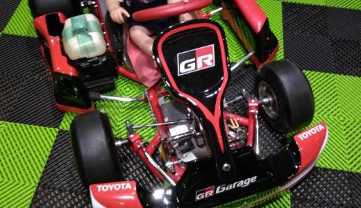 レーシングカートに大興奮